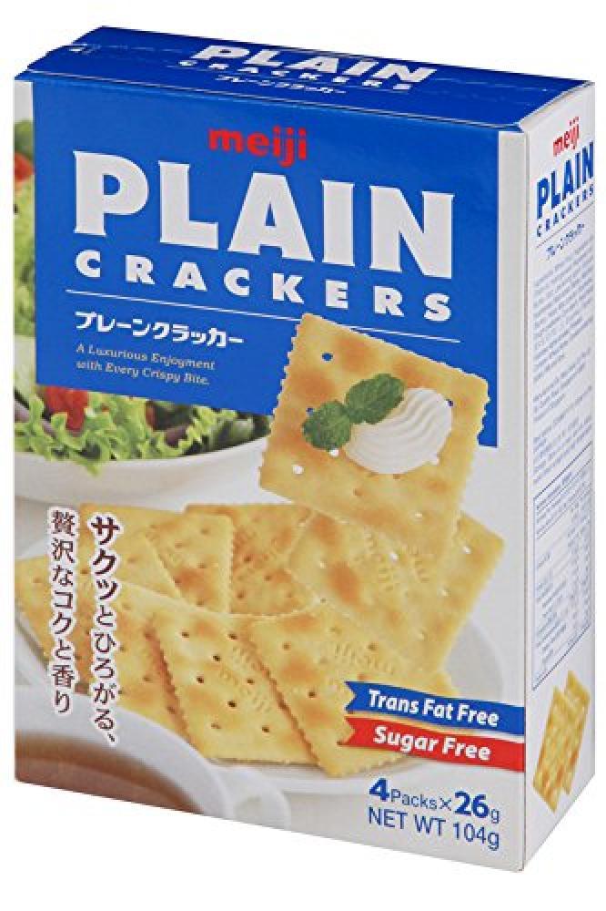 Meiji Japanese Plain Crackers with Oats 104g