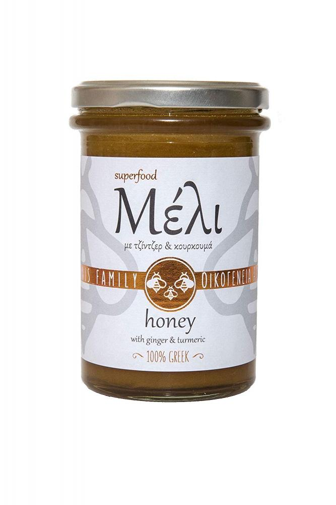Alabasinis Family Greek Honey with Ginger and Turmeric 420 g