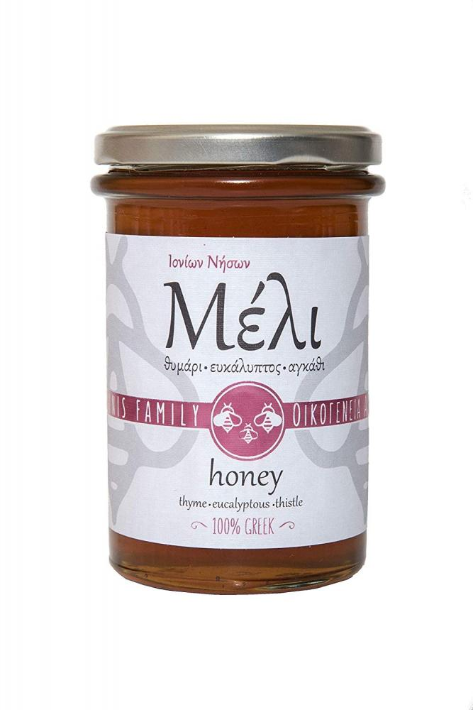 Alabasinis Family Greek Honey With Thyme Eucalyptus and Thistle 420g