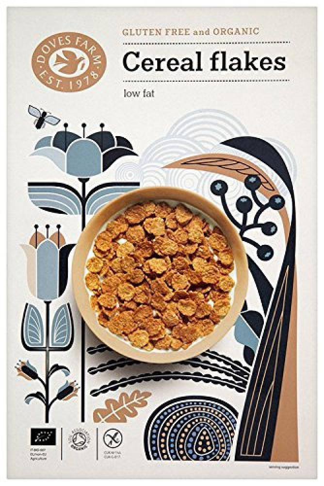 Doves Farm Gluten Free And Organic Cereal Flakes Low Fat 375g