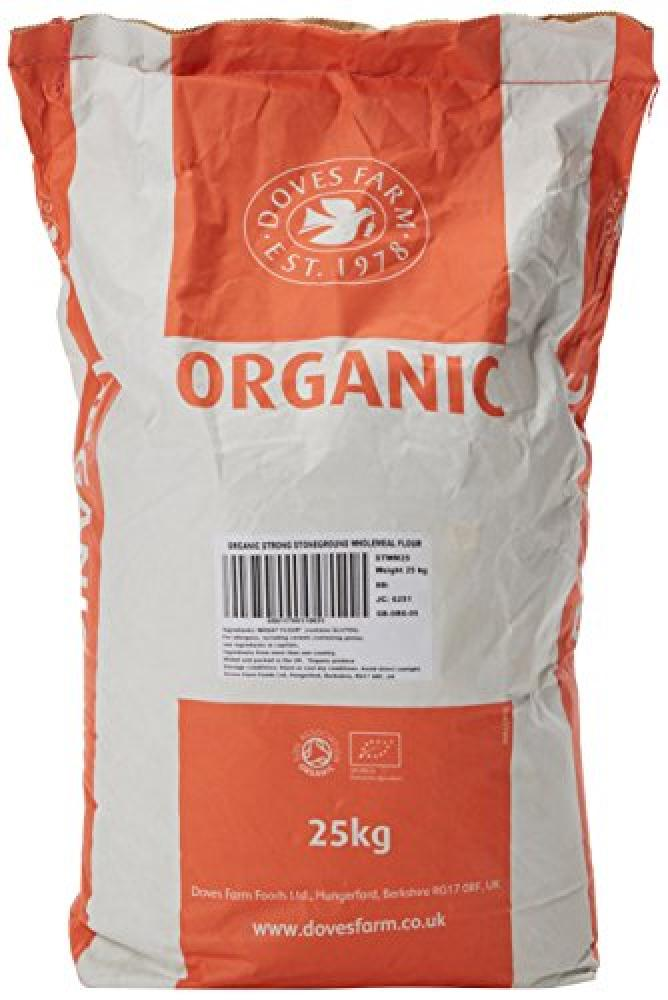 Doves Farm Organic Strong Stoneground Wholemeal Flour 25kg