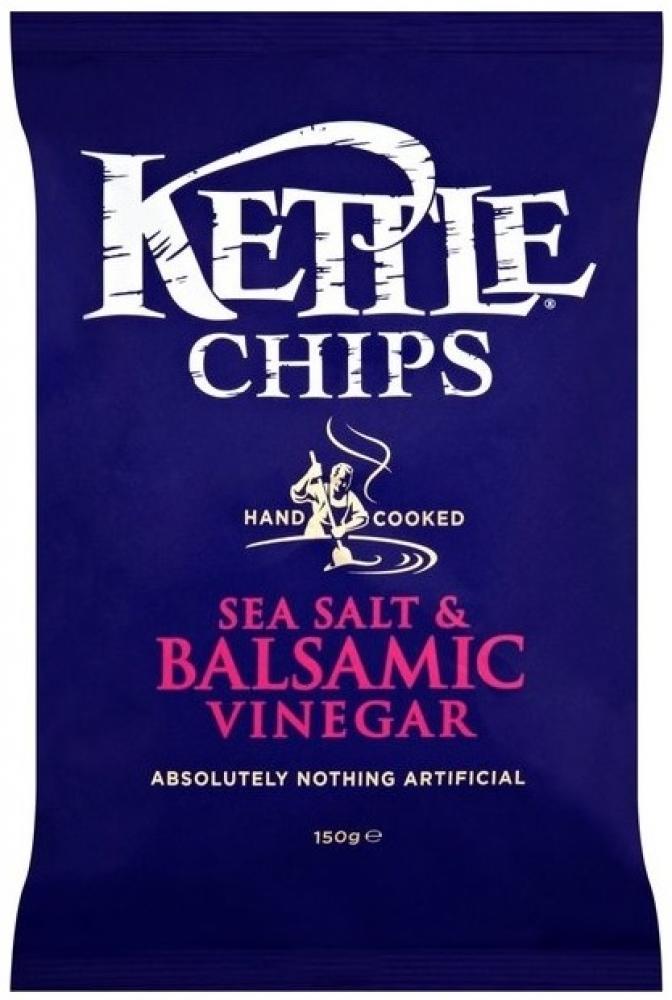 Kettle Chips Sea Salt and Balsamic Vinegar Flavour 150g