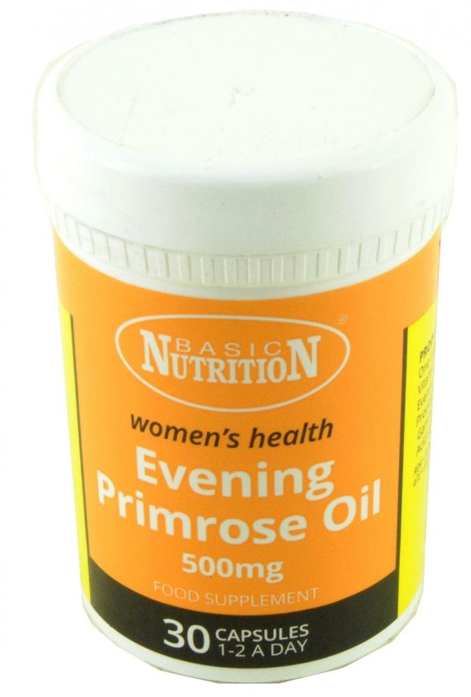 Basic Nutrition Evening Primrose Oil 500mg 30 Capsules