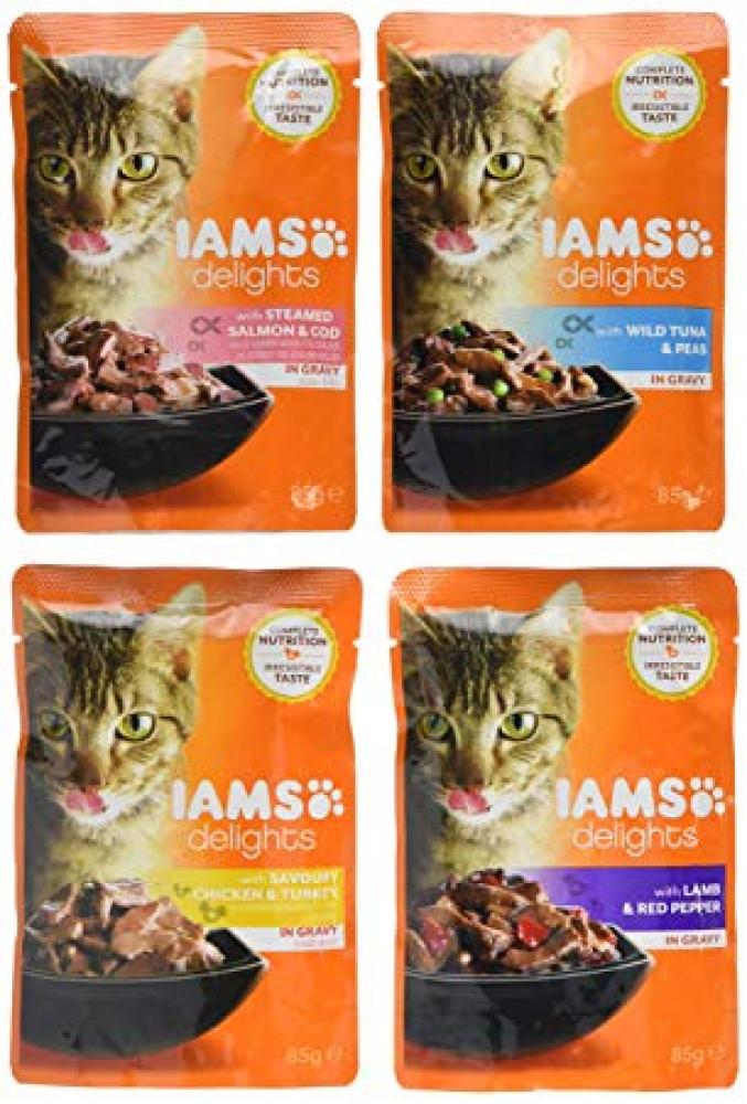 Iams Delights Cat Food Land and Sea Collection LUCKY DIP 85g