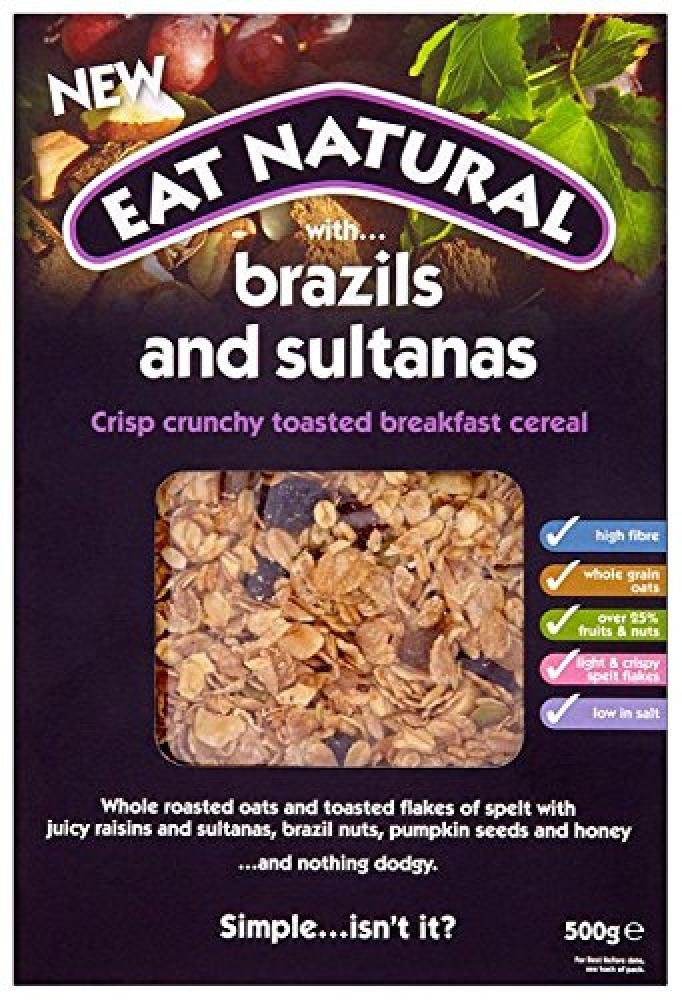 Eat Natural Brazil and Sultana Cereal 500 g