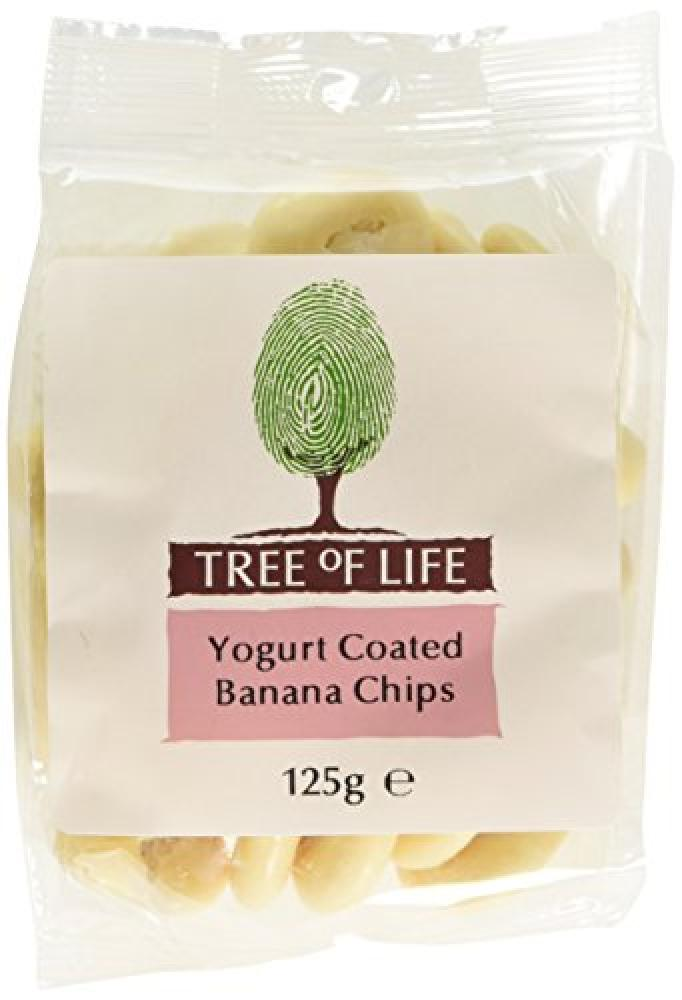 Tree Of Life Yoghurt Coated Banana Chips 125 g