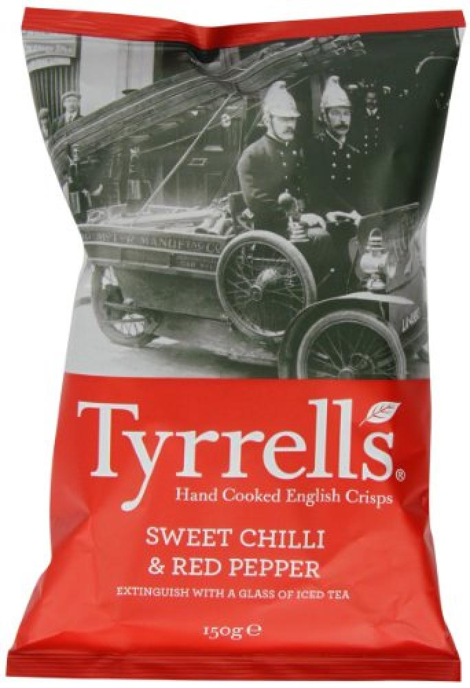 Tyrrells Sweet Chilli and Red Pepper Crisps 150 g