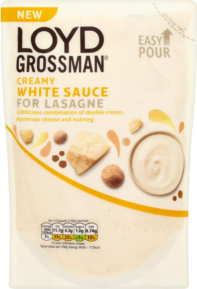 Loyd Grossman Creamy White Sauce For Lasagne 380g