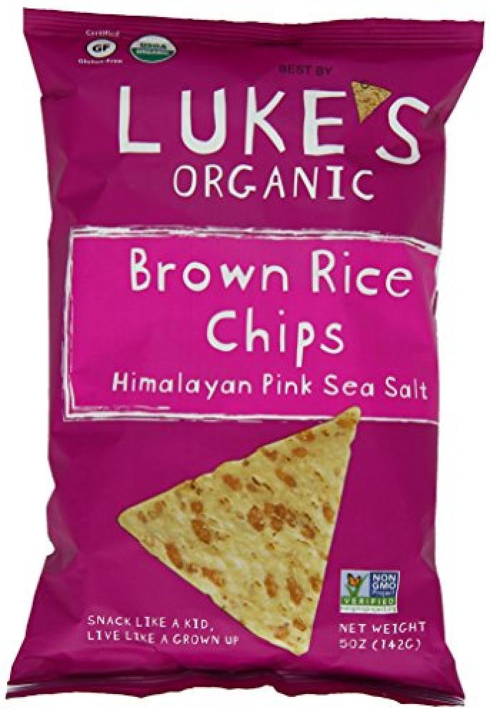 LukeS Organic Brown Rice Chips Himalaya Pink Sea Salt 142 g