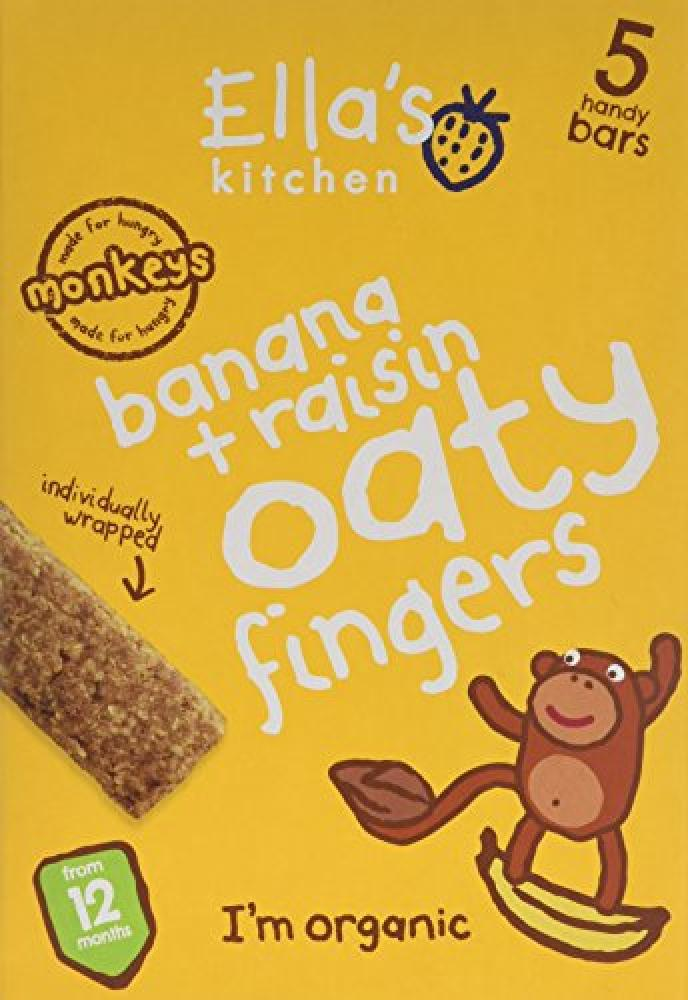 Ellas Kitchen Organic Bananas and Raisins Oaty Fingers 5x25g