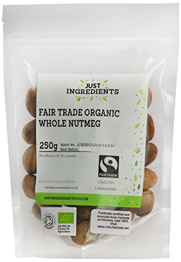 JustIngredients Premier Fairtrade Organic Whole Nutmegs 250g