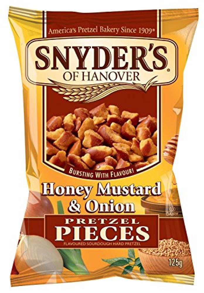 Snyders Honey Mustard and Onion Pretzel Pieces 125g