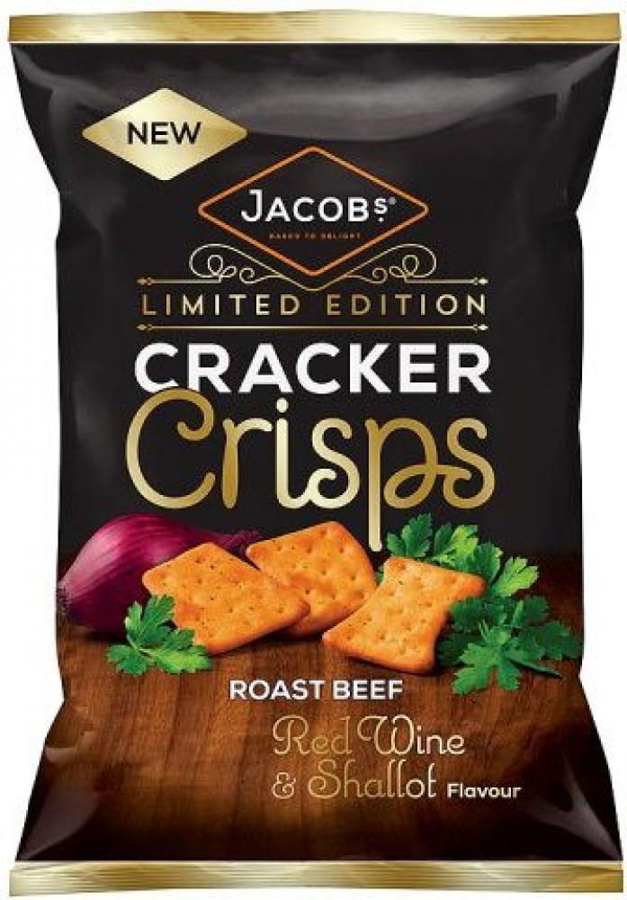 Jacobs Cracker Crisps Roast Beef Red Wine and Shallot Flavour 150g