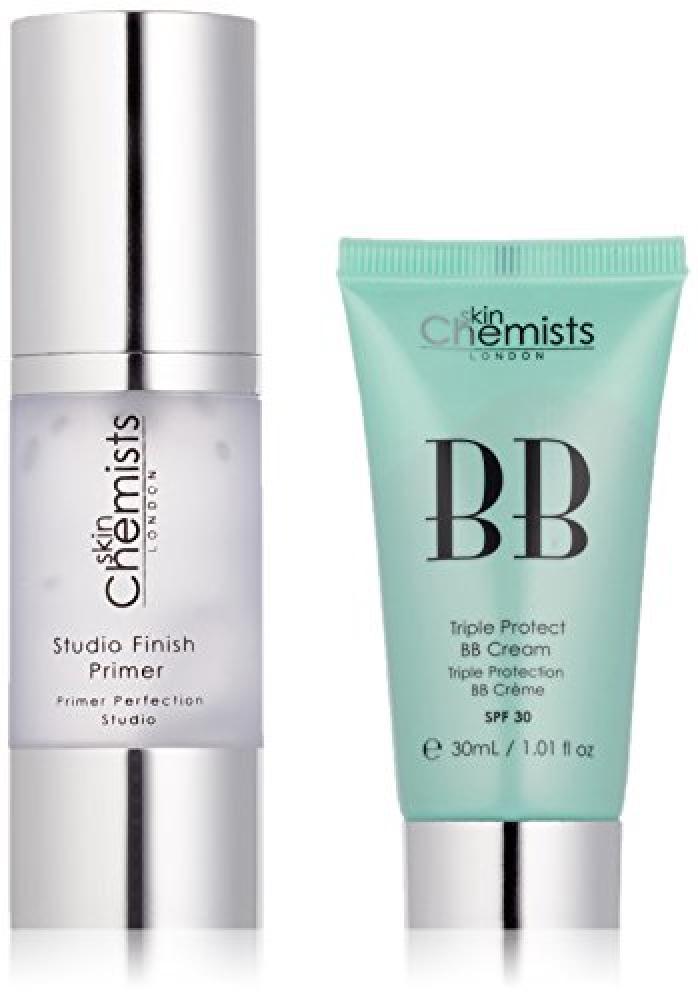 skinChemists Studio Finish Primer and Triple Protect BB Cream Medium