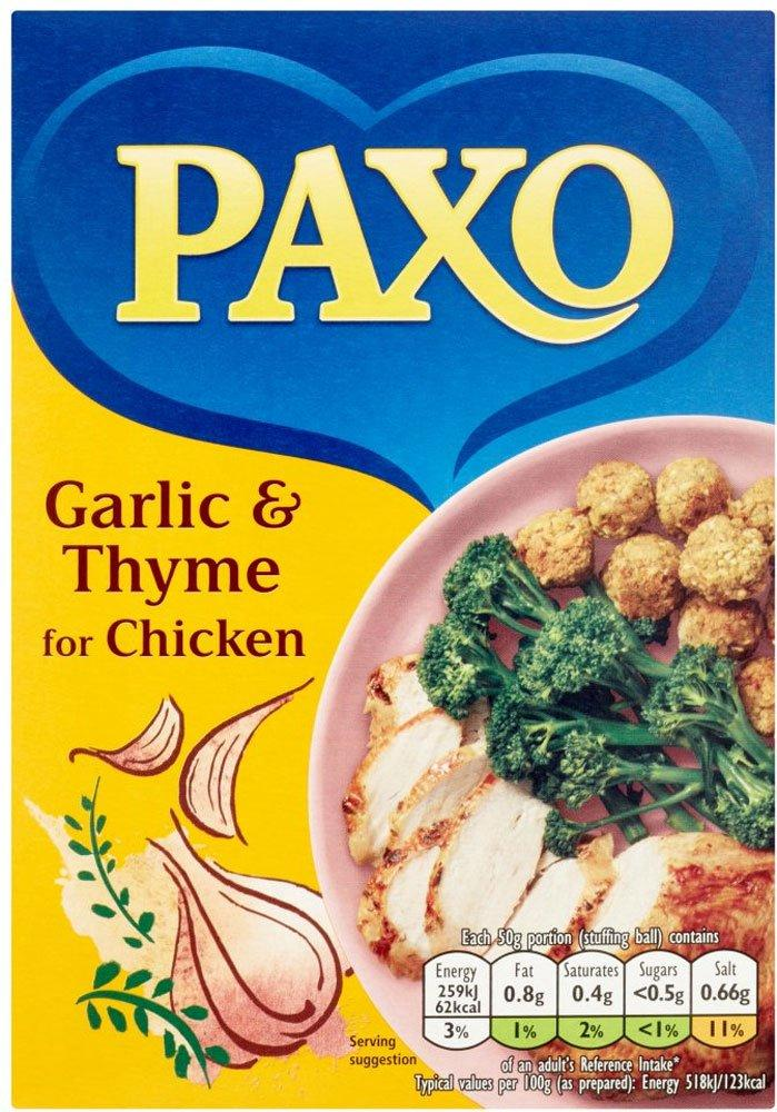 Paxo Garlic and Thyme Stuffing Mix for Chicken 190g