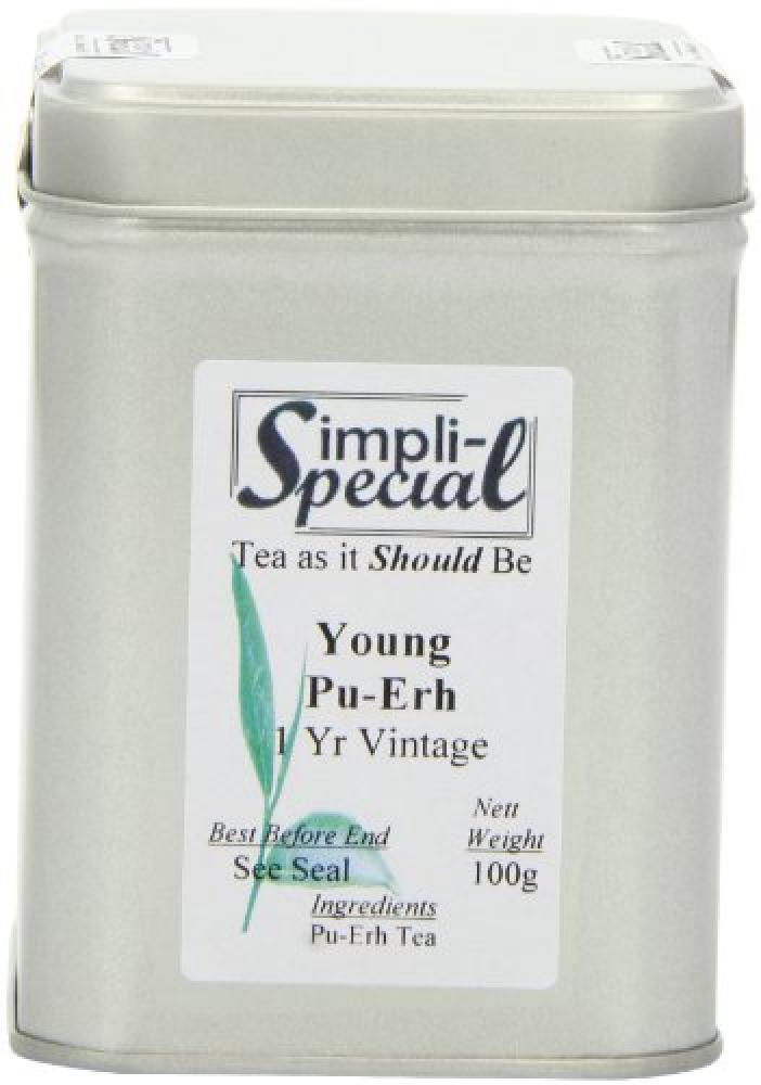 Simpli-Special Young Pu-Erh 1 Year Vintage Loose Leaf Tea in Gift Caddy 100 g