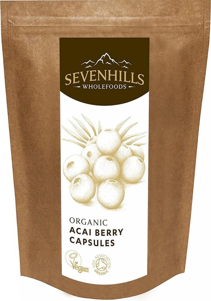 Sevenhills Wholefoods Organic Acai Berry 500mg Capsules