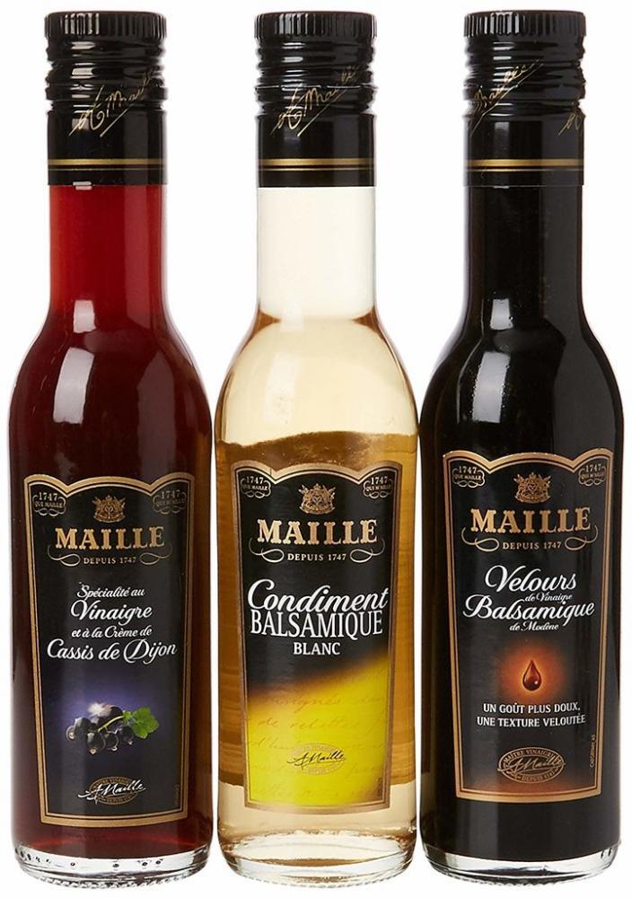Maille Flavoured Vinegar Trio Giftbox 3x250ml
