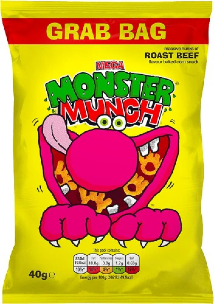 Monster Munch Roast Beef Flavour 40g