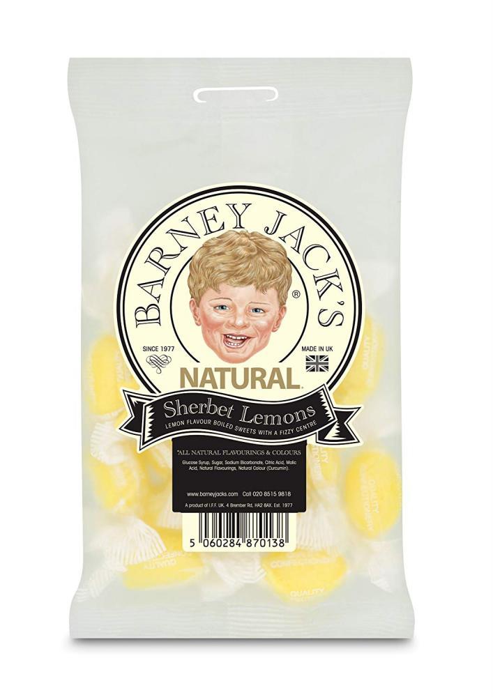 Barney Jacks Natural Sherbet Lemons 125g