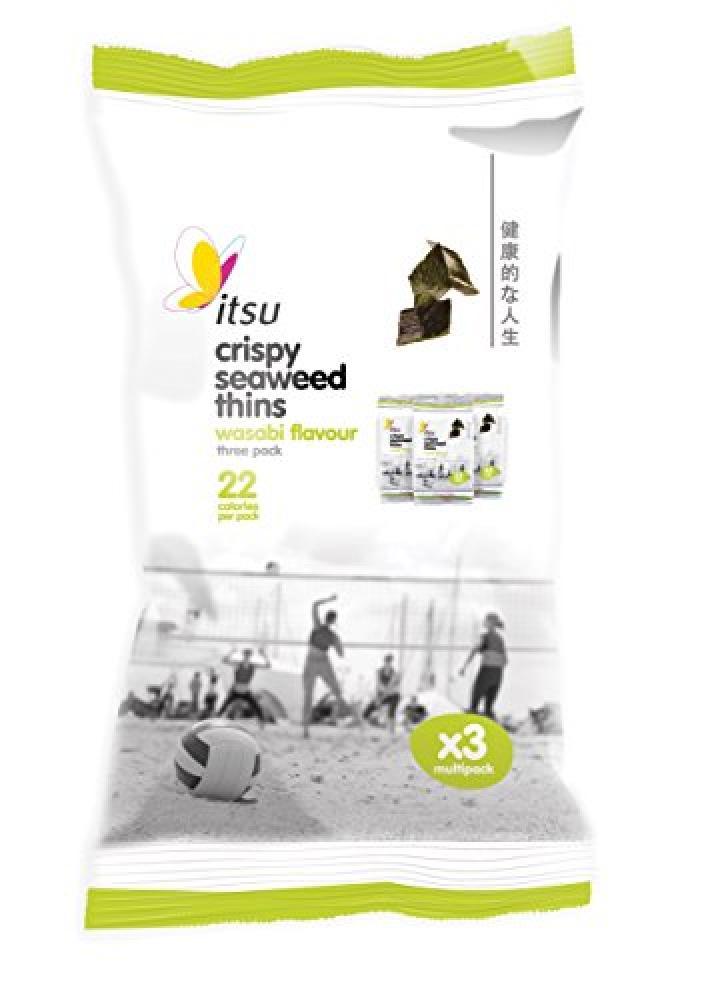 Itsu Wasabi Seaweed Thins - 3 pack