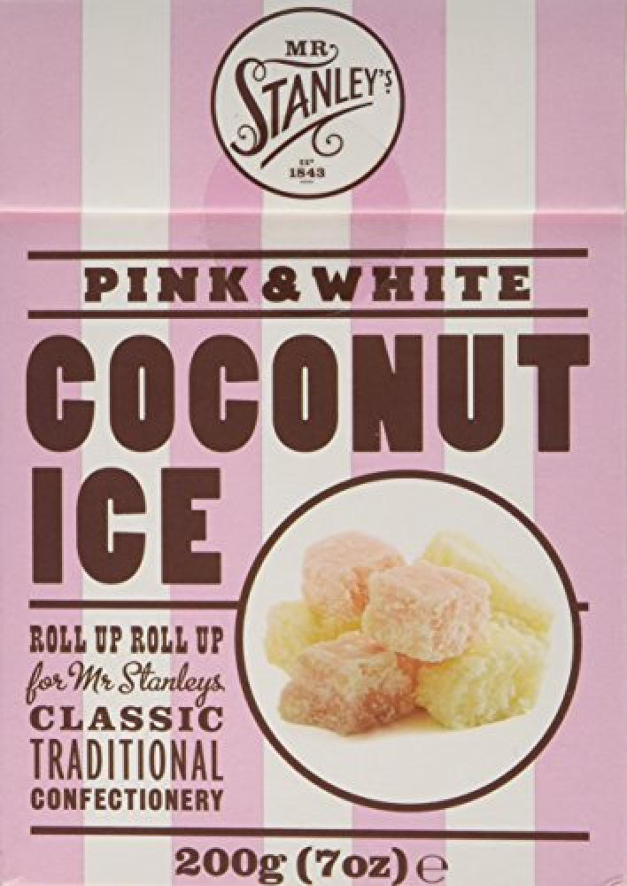 Mr Stanleys Coconut Ice Pink and White Box 200 g