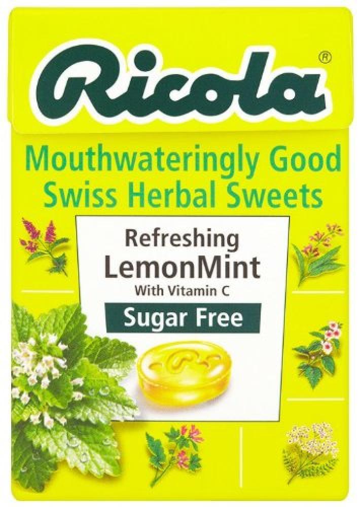 Ricola Lemon Mint Sugar Free Swiss Herb Drops 45 g