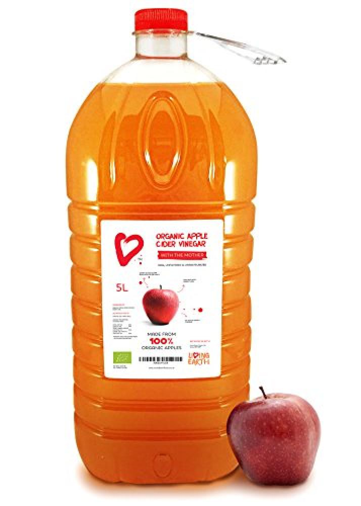 Living Earth Organic Apple Cider Vinegarwith The Mother 5L