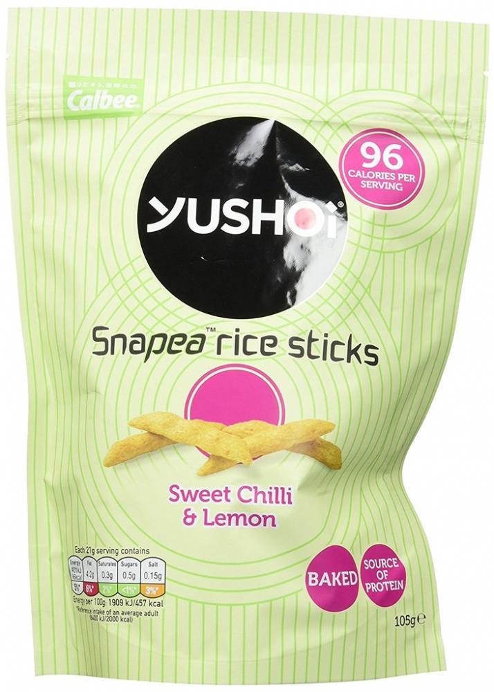Yushoi Snapea Rice Sticks Sweet Chilli And Lemon 105g