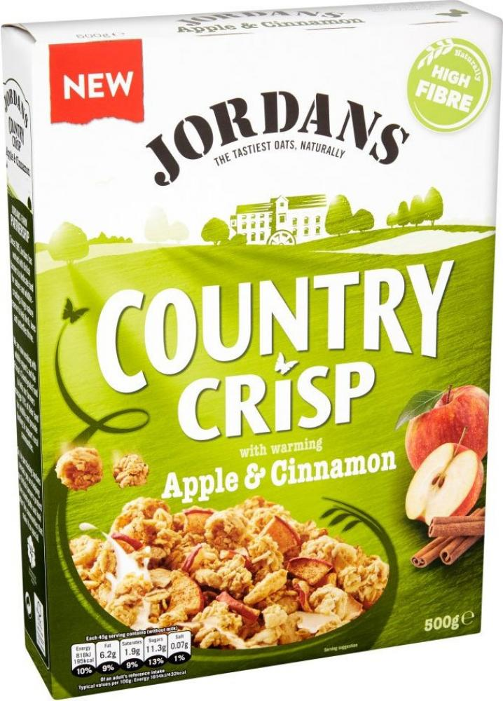 Jordans Country Crisp with Apple and Cinnamon 500g