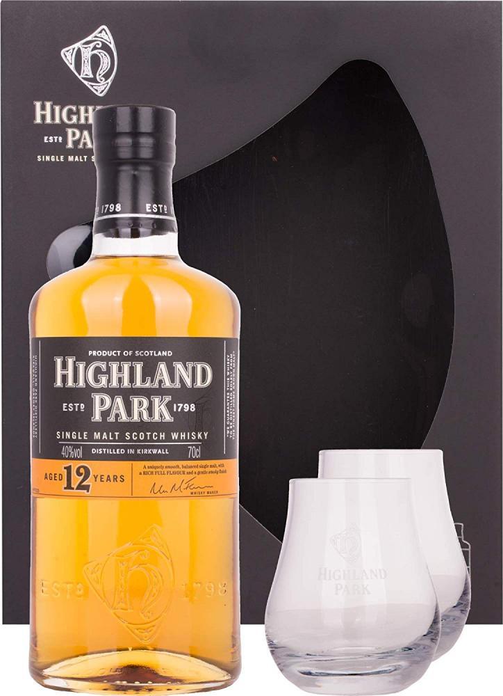 Highland Park 12 Years Old Single Malt Scotch Whisky Gift Set 700ml