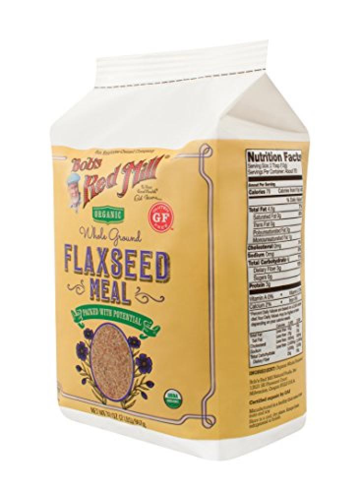 Bobs Red Mill Organic Whole Ground Flaxseed Meal 907g
