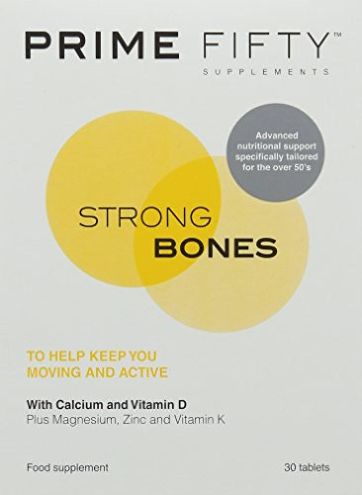 Prime Fifty Strong Bones Tablets - Pack of 30