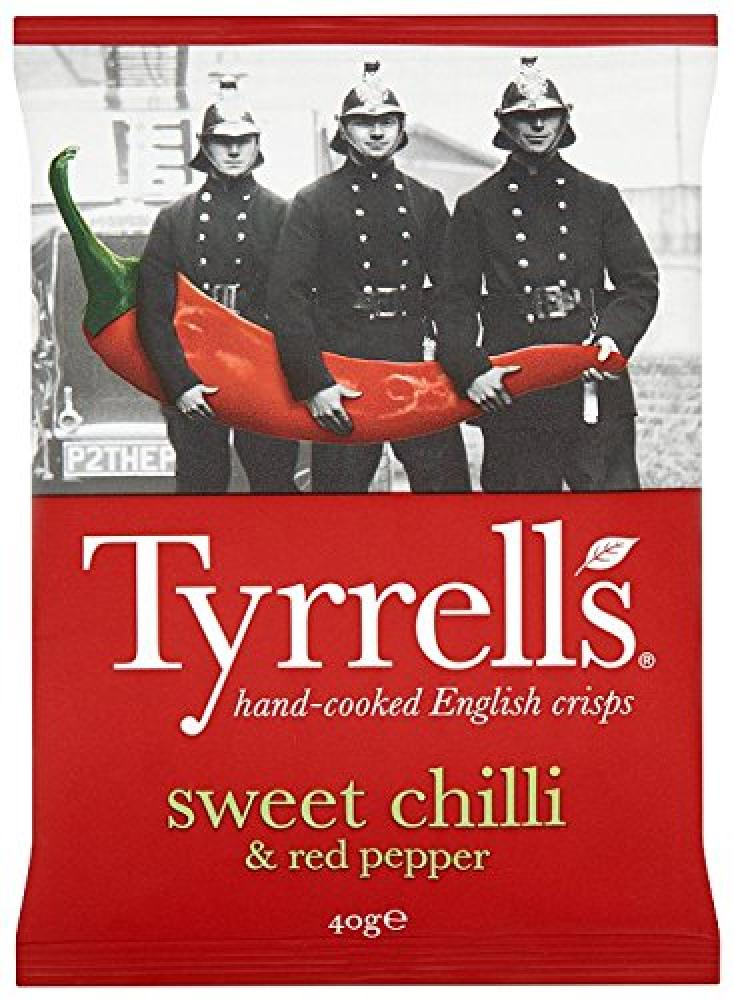 Tyrrells Sweet Chilli and Red Pepper Flavour Crisps 40g