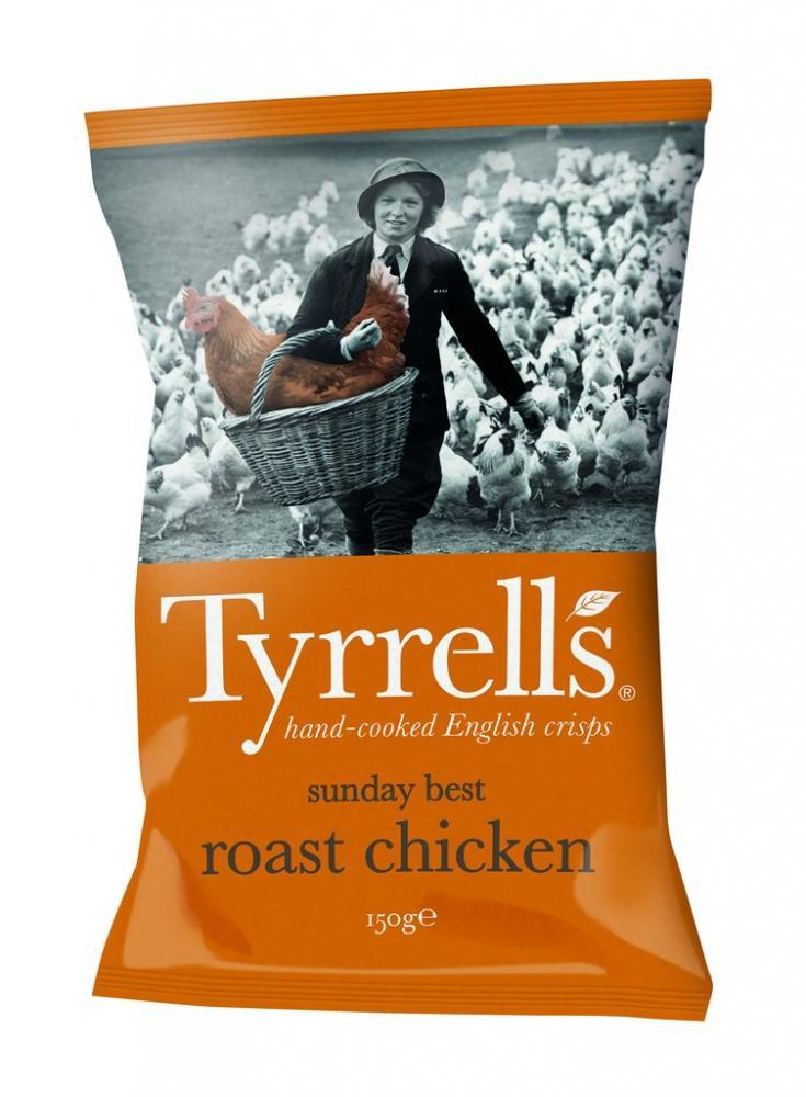 Tyrrells Sunday Best Roast Chicken Flavour Crisps 150g