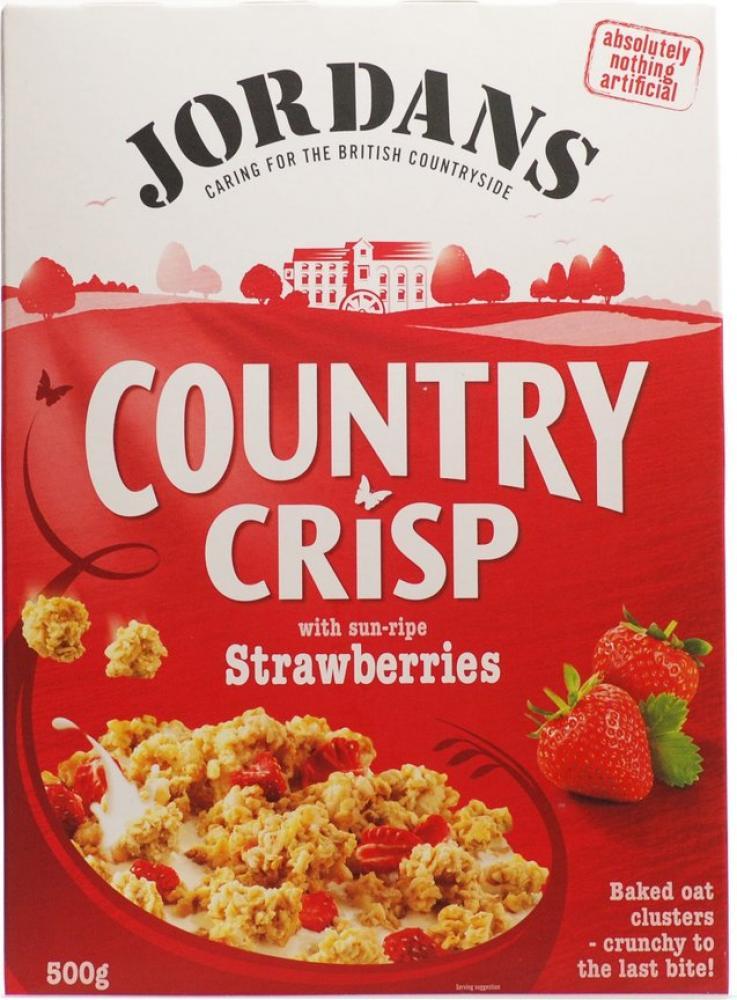 Jordans Country Crisp With Sun Ripe Strawberries 500g