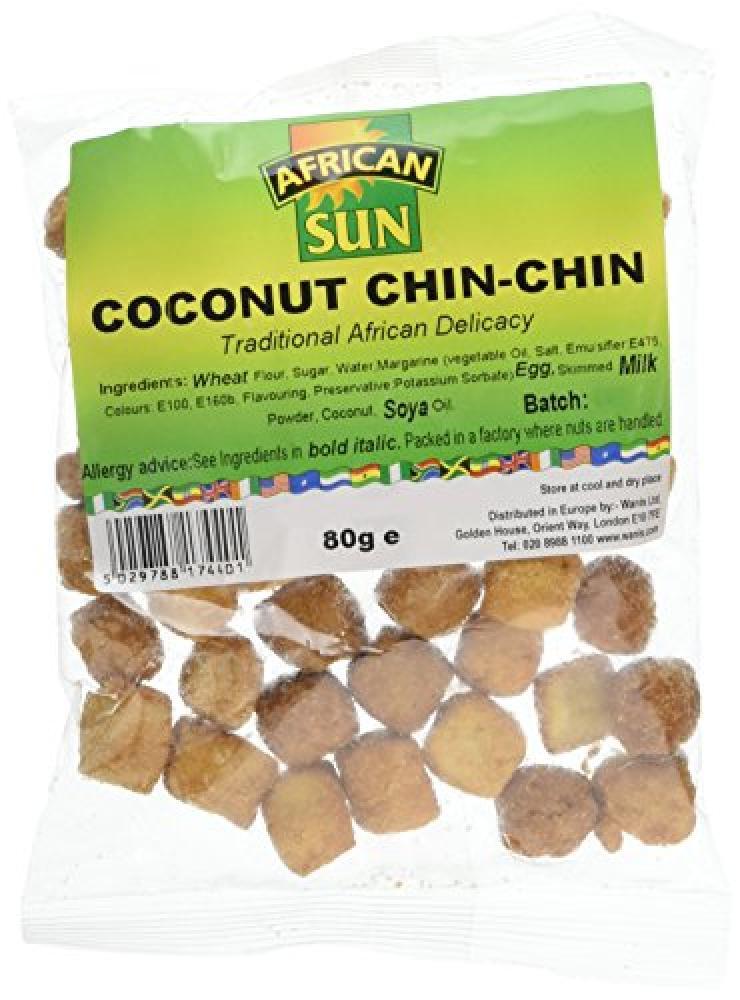 African Sun Coconut Chin Chin 80g