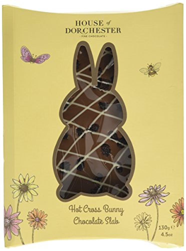 House Of Dorchester Hot Cross Bunny Chocolate Slab 130g