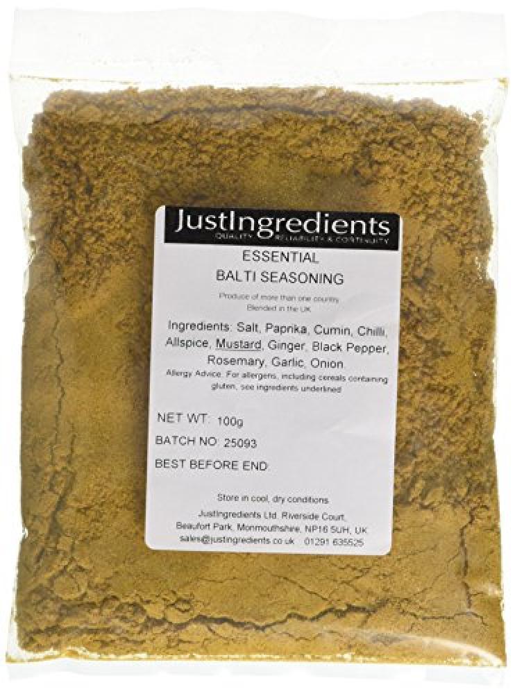 JustIngredients Essential Balti Seasoning Curry 100g