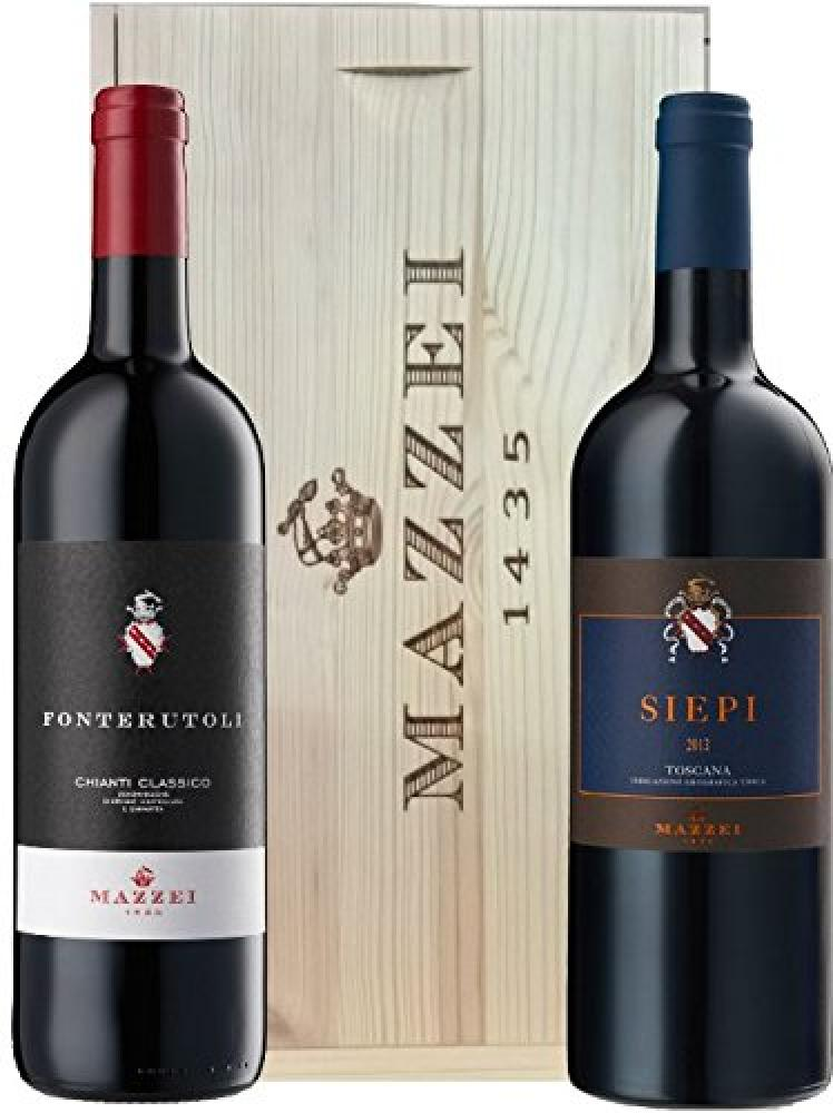 Mazzei Gift Pack in Wooden Box 2x750ml