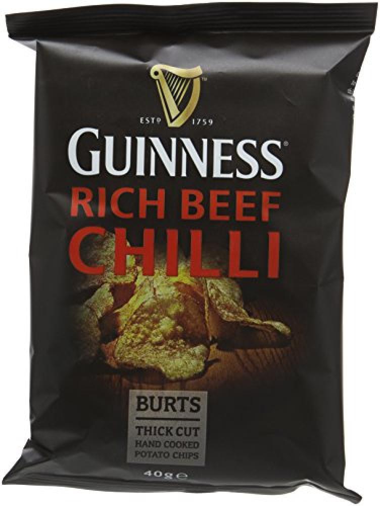 Guinness Burts Rich Chilli Guinness Potato Chips 40g