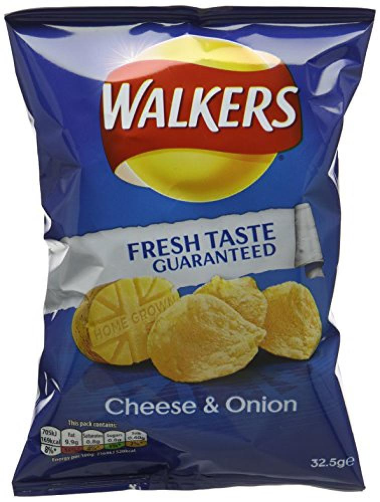 Walkers Cheese and Onion Flavour Crisps 32.5 g