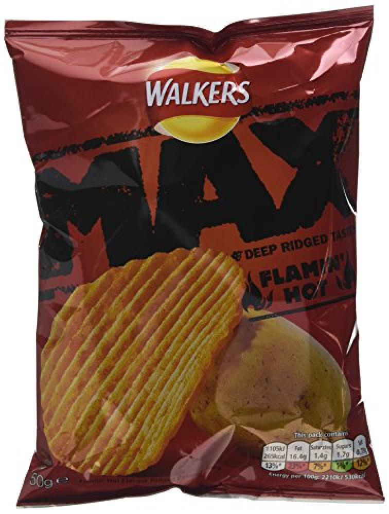Walkers Max Flamin Hot 50g
