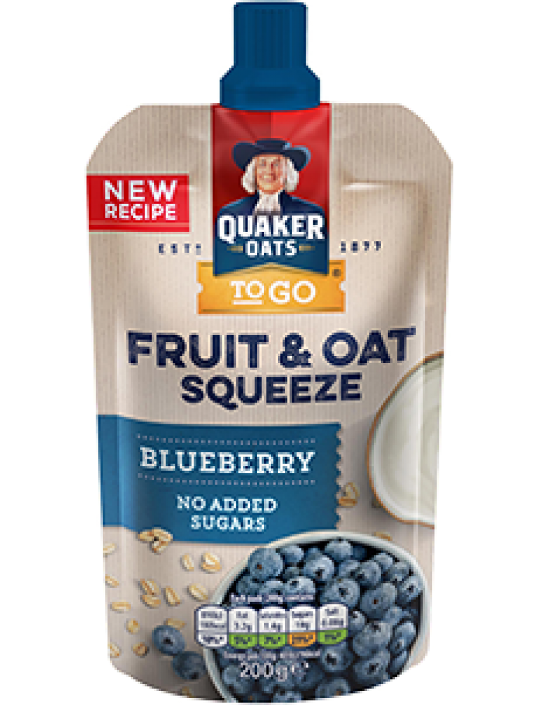 Quaker Fruit and Oat Blueberry Flavour Squeeze 200g