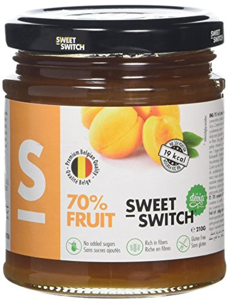 Sweet Switch Stevia 70 Percent Fruit Apricot Jam 210g