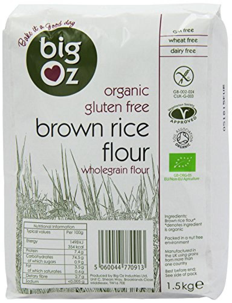 Big Oz Organic Brown Rice Flour 1.5 kg