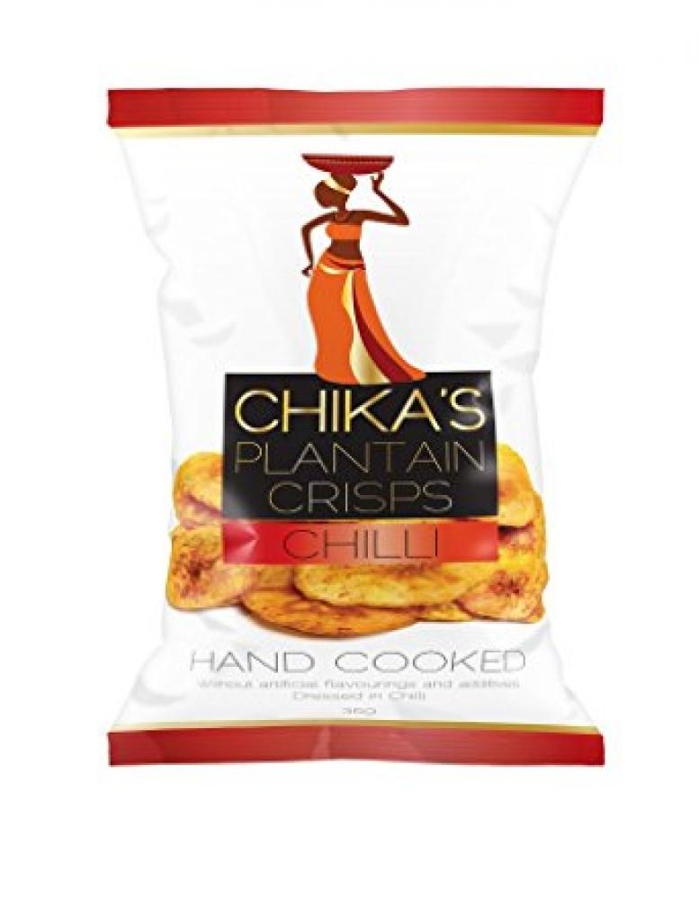 Chikas Hand Cooked Plantain Chilli Crisps 35g