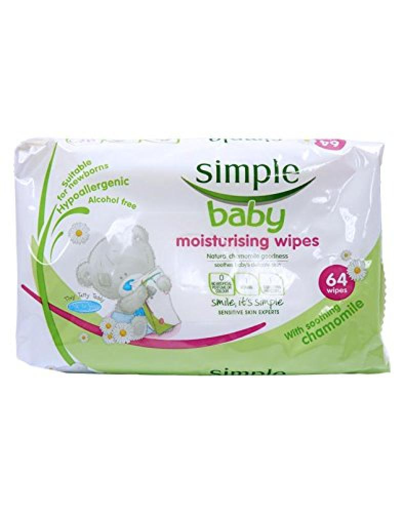Simple Baby Moisturising Wipes 64 Wipes