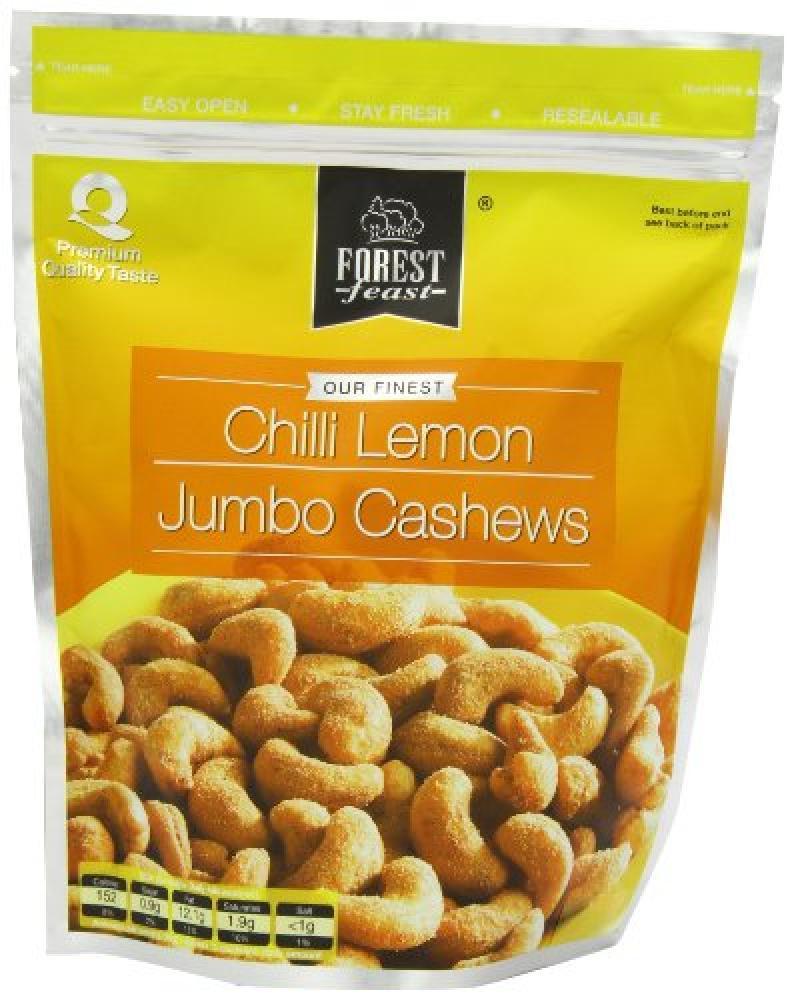 Forest Feast Savoury Doypacks Chilli Lemon Jumbo Cashews 250 g