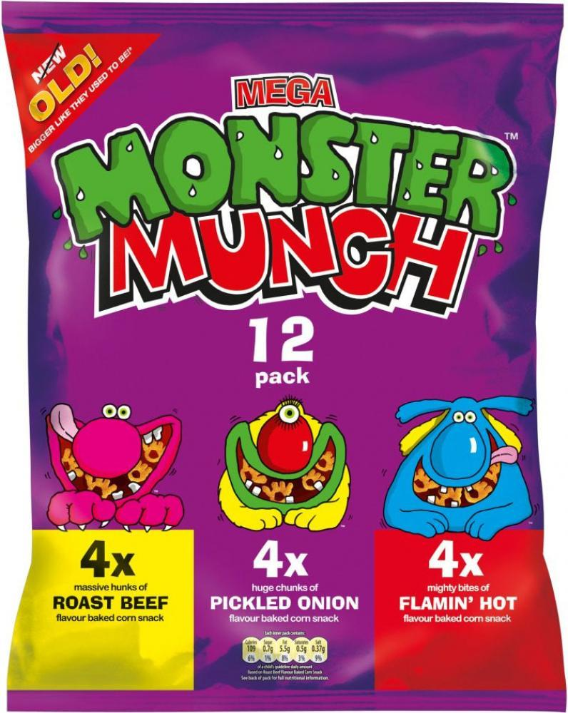 Walkers Mega Monster Munch Variety 22g x 12